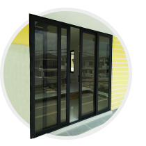 High performance sliding door