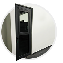 High performance swing door